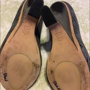 Pique Shoes - Pique Grey Wedge Peep Toe Heel